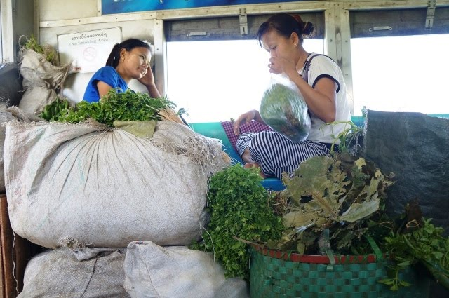vegetable vendor Yangon Myanmar