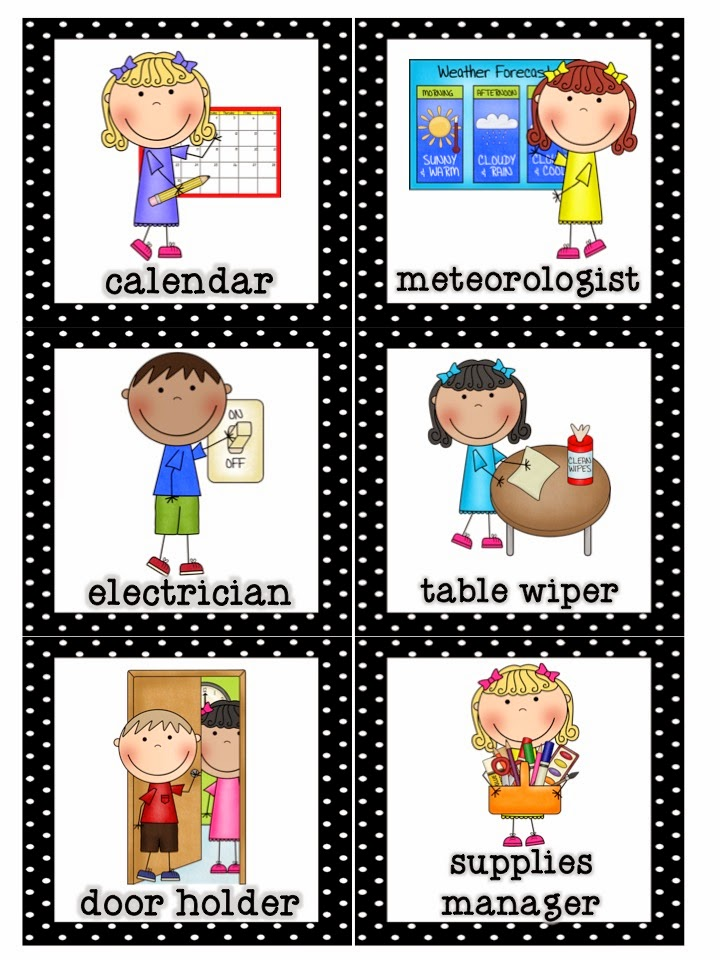 kindergarten clipart classroom jobs - photo #5