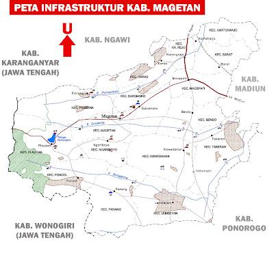 Gambar Peta Infrastruktur Kabupaten Magetan