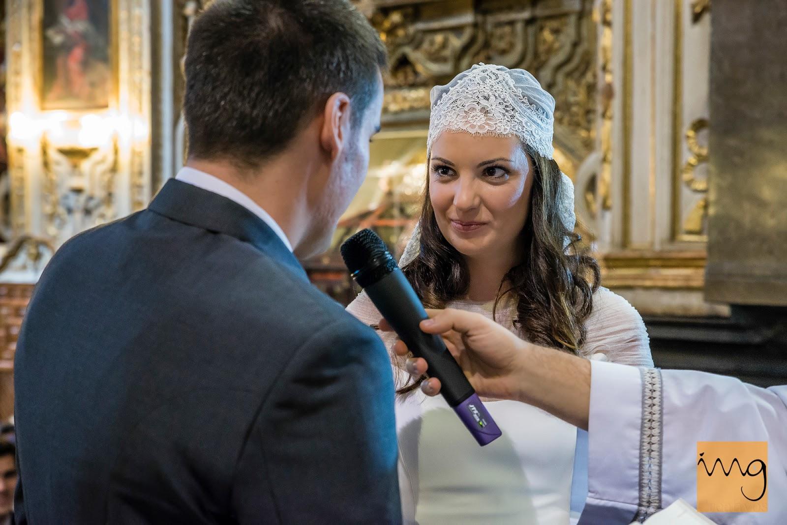Fotografía de boda, los votos de los novios