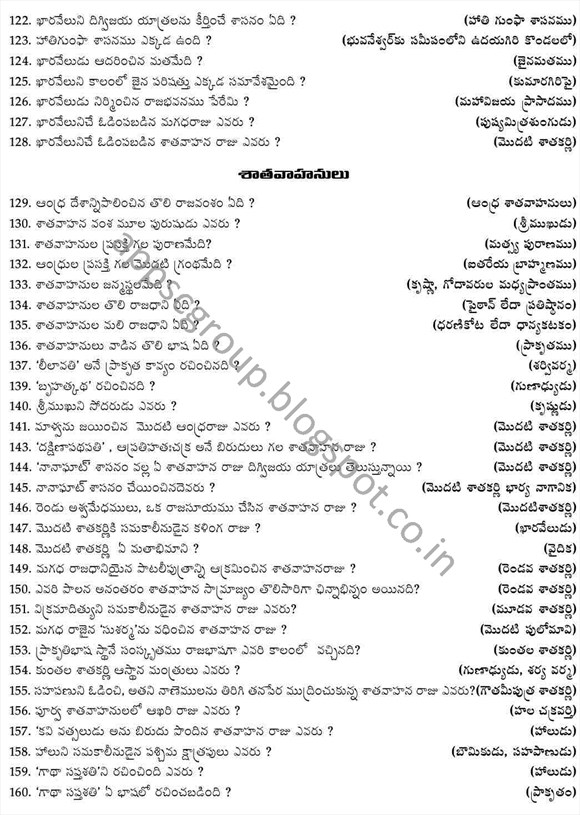 appsc group 1 notification 2014 indian history bits mcqs for telugu medium