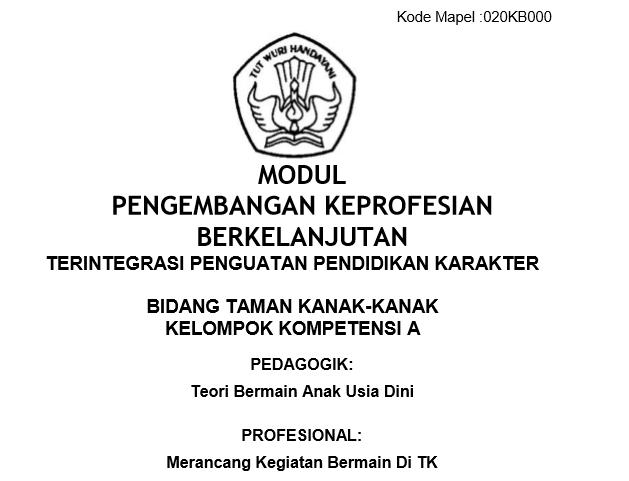 Modul PKB Guru TK Revisi 2017