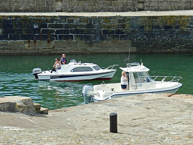 Small boats in Charlestown, Cornwall