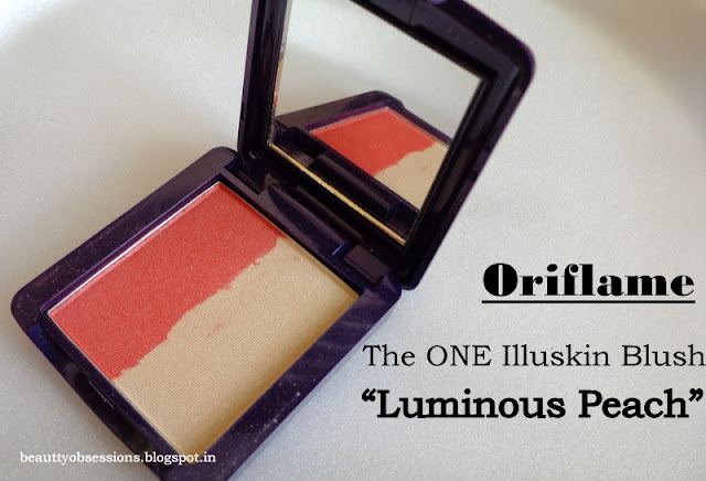 Oriflame The ONE Illuskin Blush Luminous Peach - Review,Swatches and Price