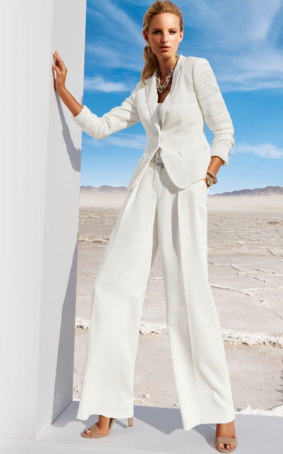 Madeleine Suit in Wool White