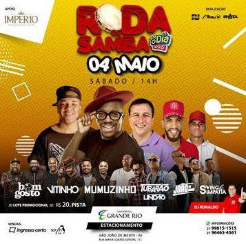 Shopping Grande Rio e FM O Dia promovem roda de samba inédita com estrelas da música