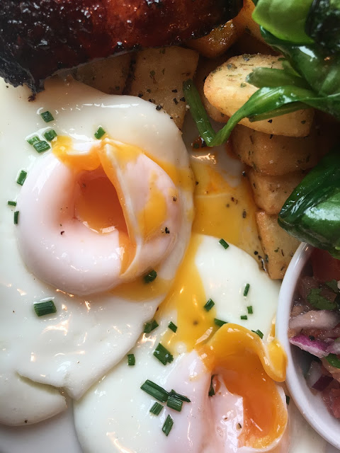 Perfect fried eggs at The Bristolian in Bristol