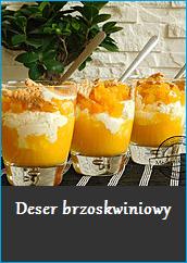 Deser brzoskwiniowy przepis desery mascarpone mus brzoskwiniowy brzoskwinie mechanik w kuchni