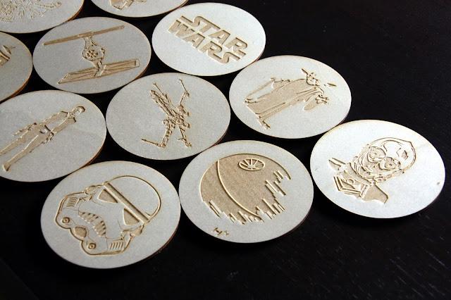 Wyroby ze sklejki w kształcie bohaterów sagi Gwiezdne Wojny