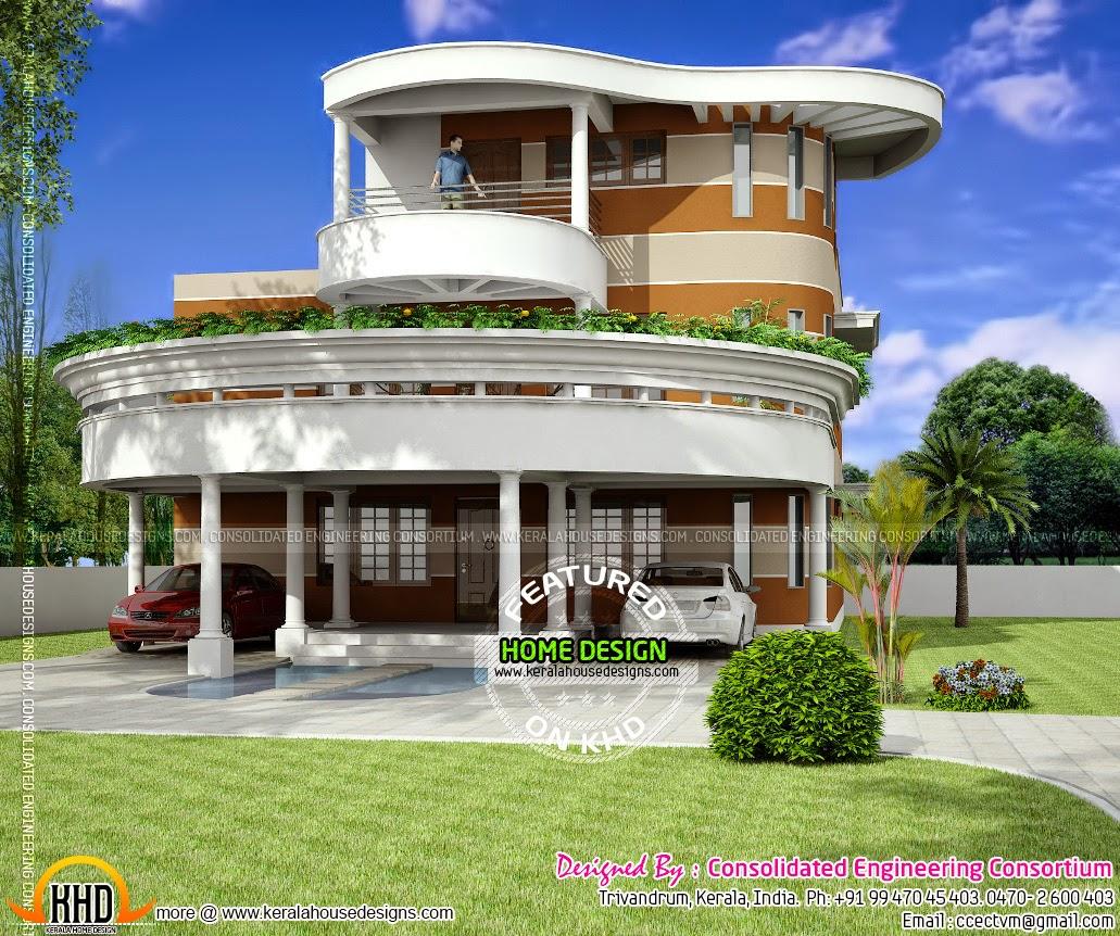 Unique house plan in Kerala