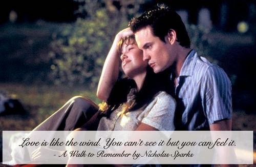 a walk to remember quotes our love is like the wind - photo #9
