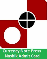 Currency Note Press Nashik Admit Card
