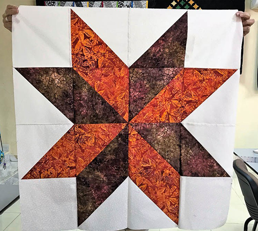 Quick Star Quilt Free Tutorial Designed by Joy of Days Filled with Joy