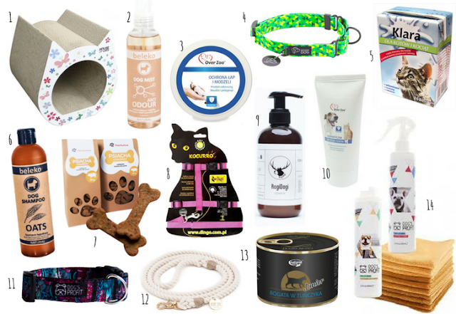 Polskie karmy, kosmetyki i akcesoria dla zwierząt