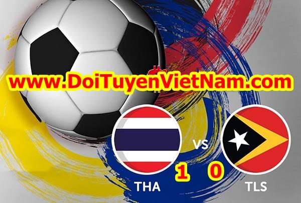 """U22 Thái Lan """"vất vả"""" thắng U22 Đông Timor với tỷ số sát nút (1 - 0)"""