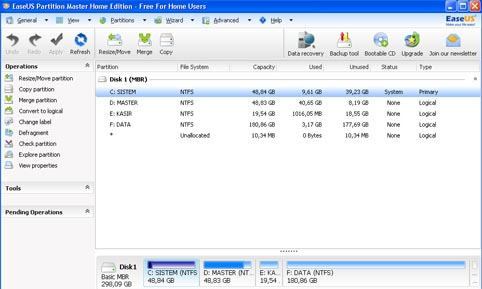 Cara Membagi Partisi Harddisk di Windows XP