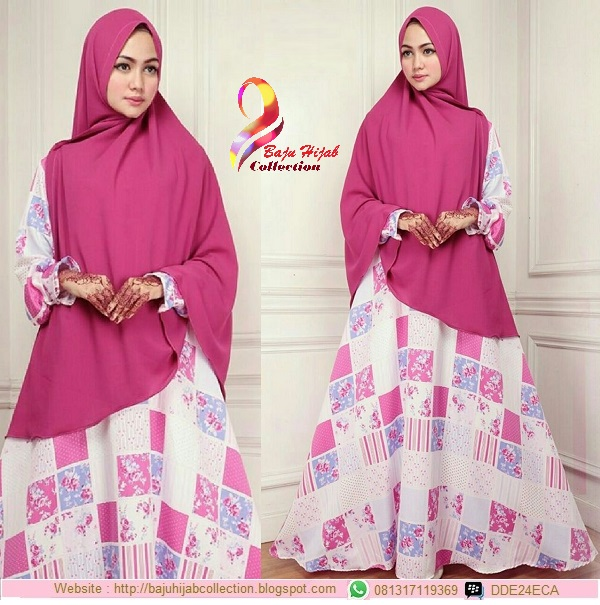 Set Gamis Monalisa Plus Khimar Bubblepop