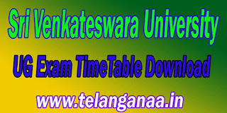 Sri Venkateswara University UG Exam TimeTable Download