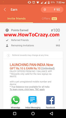 (Proof Added) TrueBalance Refer and Earn Unlimited Trick 2016 (Earn Upto 10,000)