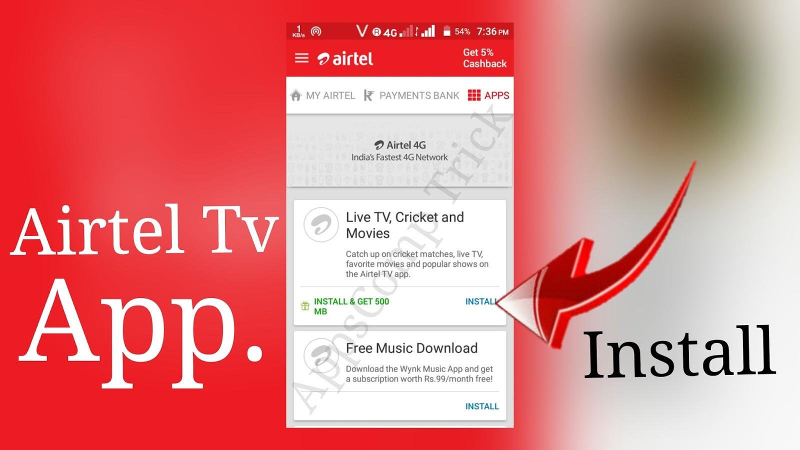 my airtel tv apps