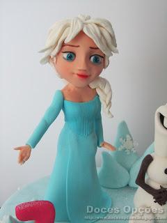 elsa disney frozen bolo