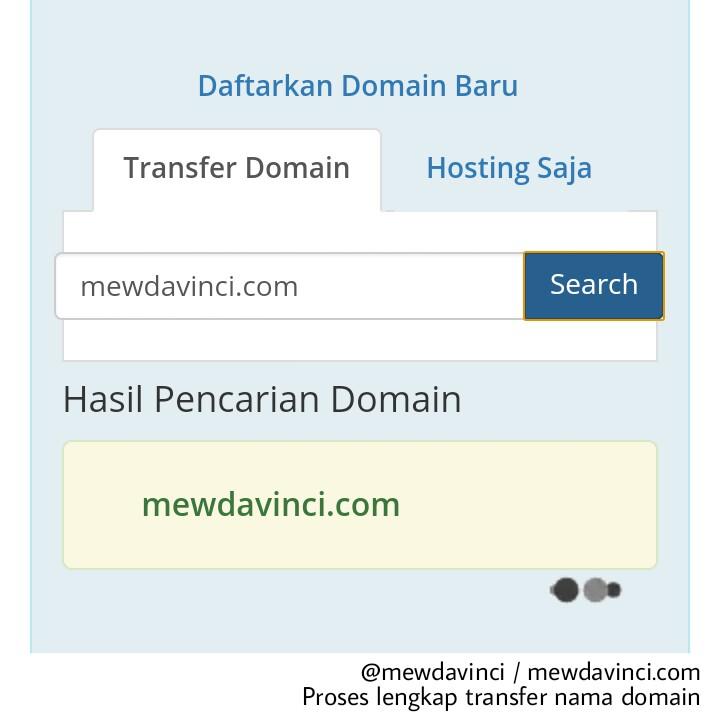Panduan lengkap transfer domain
