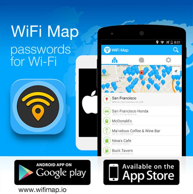 تطبيق الأول في اكتشاف نقط الوايفاي و كلمة السر WiFi Map
