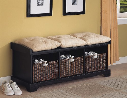 Bench Furniture Ideas Bench With Cushion Seat And Storage