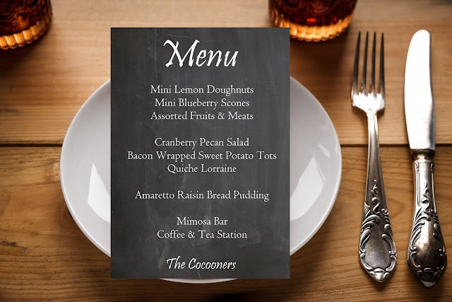 Friendsgiving Brunch Sample Chalkboard Menu