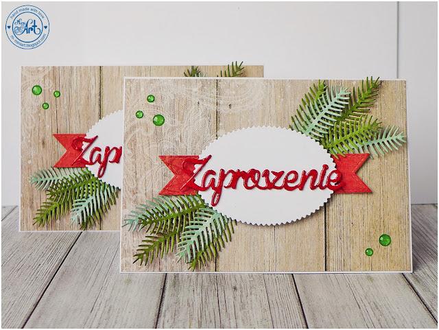 Zaproszenia Świąteczne / Christmas invitations – DT Craft Passion