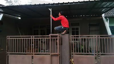 Kanopi Atap spandek,perumahan pena buana,sleman,D.I yogyakarta