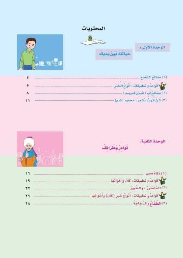 كتاب اللغة العربية للصف السادس الإبتدائي الترم الأول المعدل 2018 3