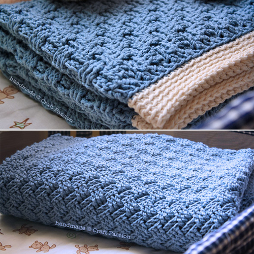 Basket Weave Blanket - Free Pattern