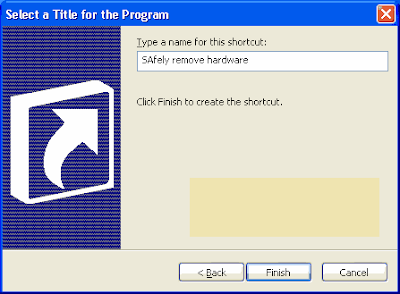 How to Create a Shortcut Safely Remove Hardware Device in Windows 4