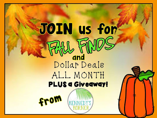Dollar Deals During the Whole Month of October and a Giveaway by Kennedy's Korner