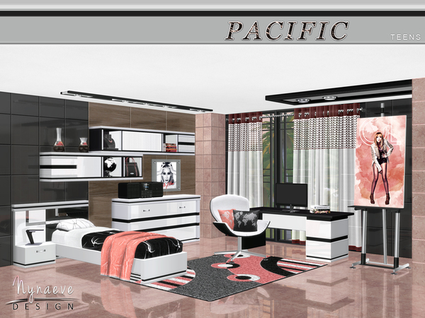 My sims 4 blog nynaevedesign 39 s pacific heights teen for Bedroom designs sims 4