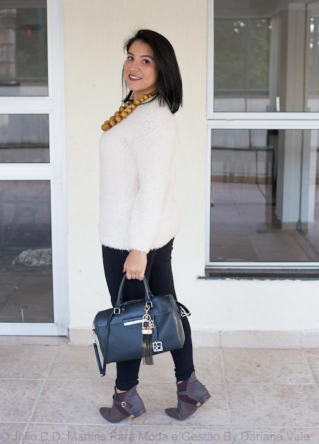 Look do dia: Suéter e legging para um dia frio