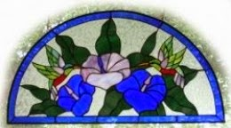 Stained Glass Transom Window in our Bathroom