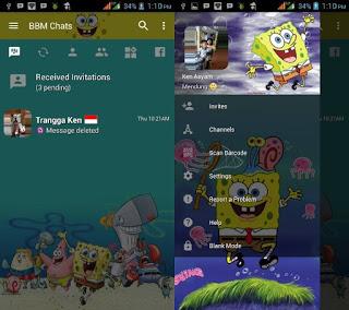 BBM MOD Spongebob v3.2.5.12 APK versi terbaru
