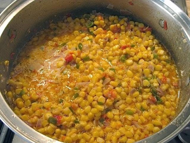 Food Lust People Love Maque Choux Spicy Cajun Corn