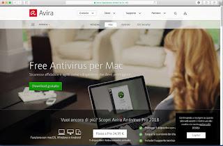 Programma Avira Free Antivirus per Mac