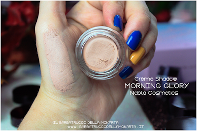 morning glory swatches POTION PARADISE OMBRETTI CREMA NABLA CREME SHADOW