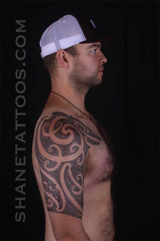 59bf9c509 SHANE TATTOOS: Maori Half Sleeve Tattoo, Ta Moko