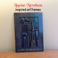 Create sculptures with found objects like Louise Nevelson