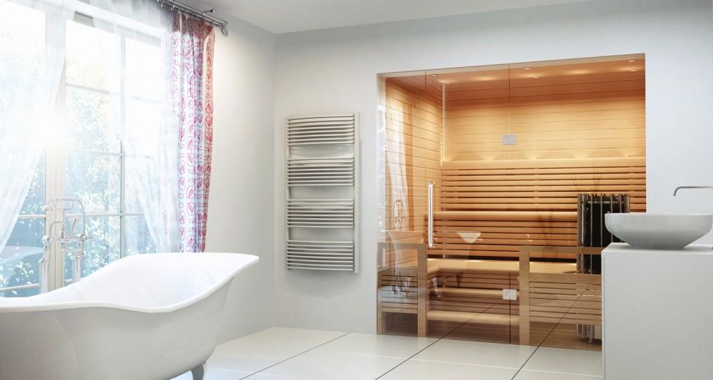 Marzua saunas finlandesas que se integran en el ba o y se - Que es una sauna ...