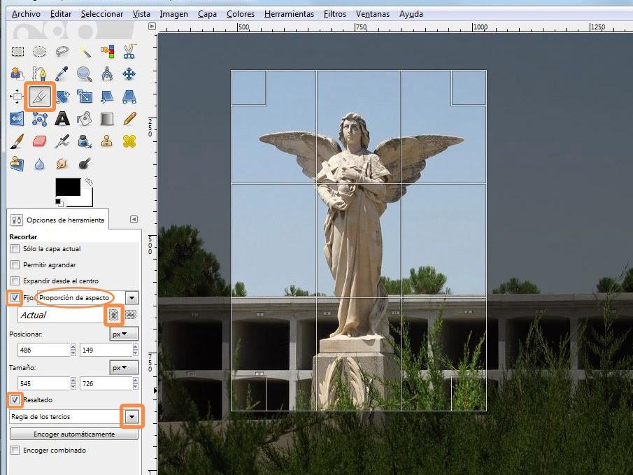 Cómo reencuadrar y recortar una imagen - Aprende Gimp 2.8 paso a paso