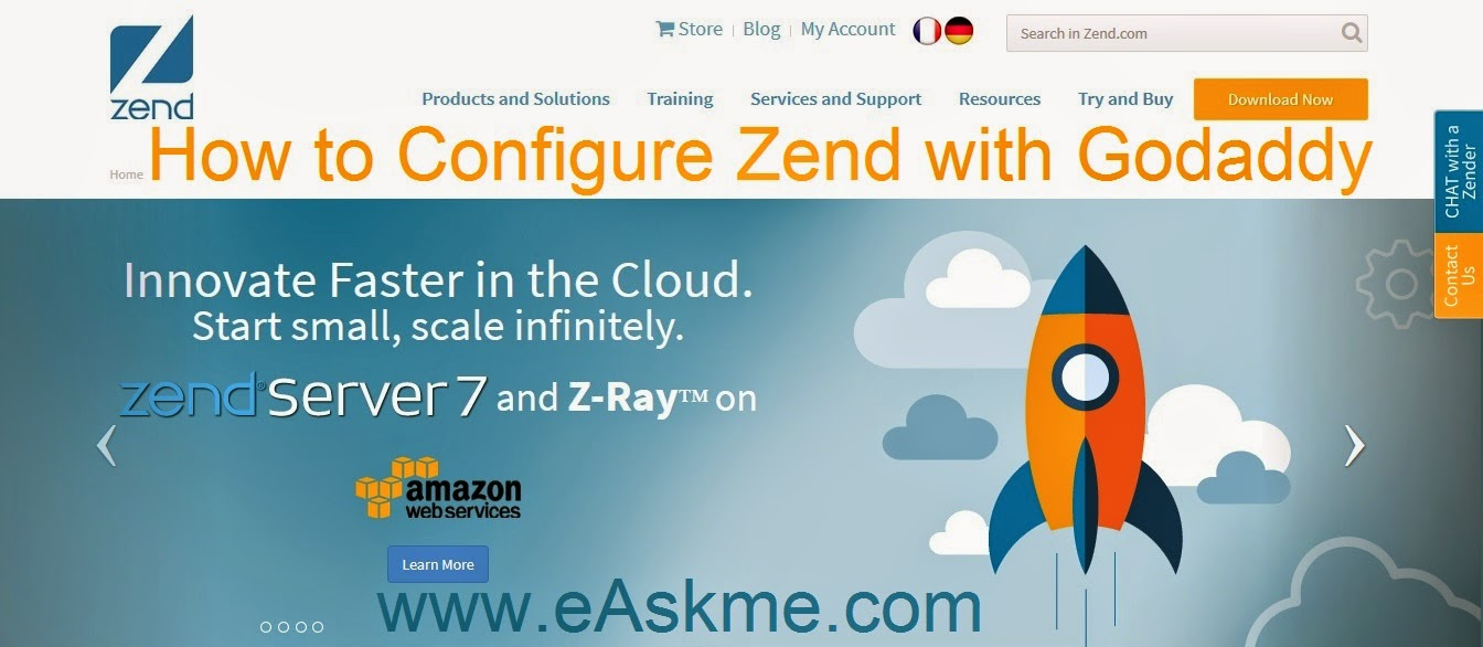How to Configure Zend with Godaddy : eAskme