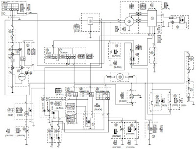 the following electrical system schematic shows the yamaha vino 125s wiring  diagram  the electrical system consists of battery, cdi unit, carburetor  heater,