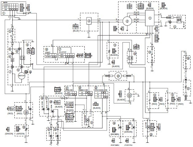 Yamaha Vino 125S Wiring Diagram ~Diagram source