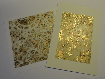 Cogs and seed heads in gilding flakes - sort of - lots of gaps in the pattern